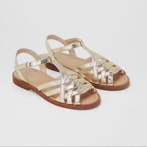 • Zara • Metallic Sandals